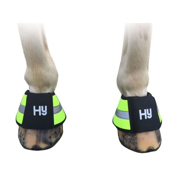 Reflector over reach boots by hy equestrian - orange